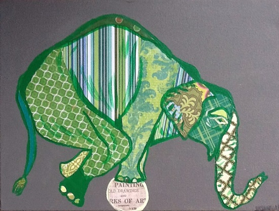 art prints - Art Ball Elephant by Susannah Raine-Haddad
