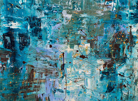 art prints - Blue Ocean I by Carmen Guedez
