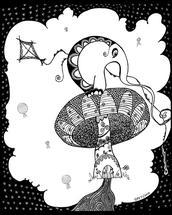 Elephant Flying A Kite by ArtLab700