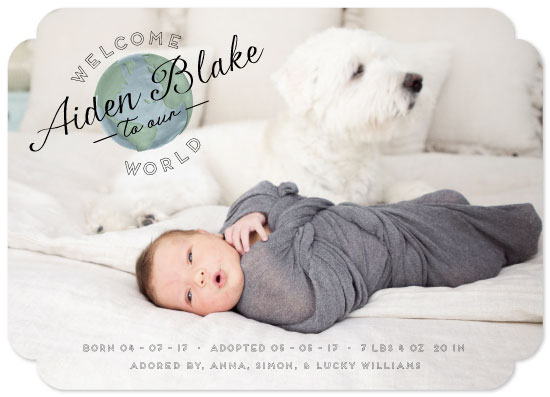 birth announcements - Our World by Julie Hebert