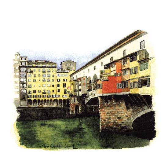 art prints - Ponte Vecchio by Terri Crockett