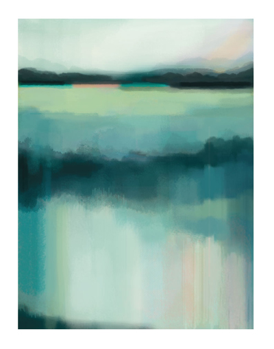 art prints - Blue lagoon by Alison Jerry Designs