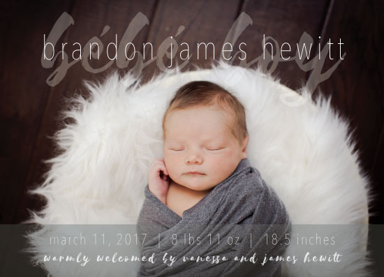 birth announcements - Welcome Bébé by Caryssa Philgreen