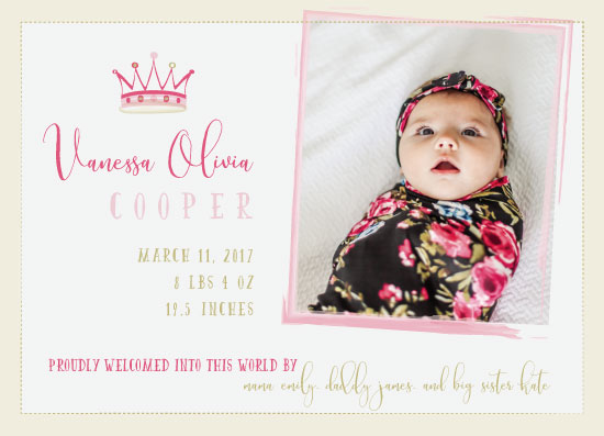 birth announcements - Princess Welcome! by Caryssa Philgreen