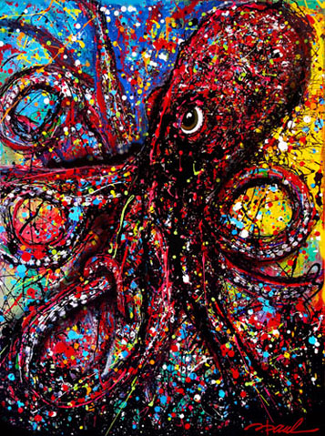 art prints - Mr Octopus by D. Paul DeRouen
