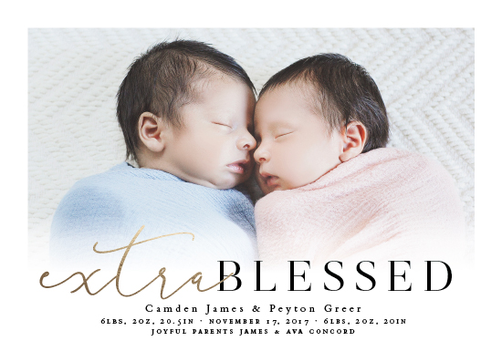 birth announcements - Extra blessed by Lea Delaveris