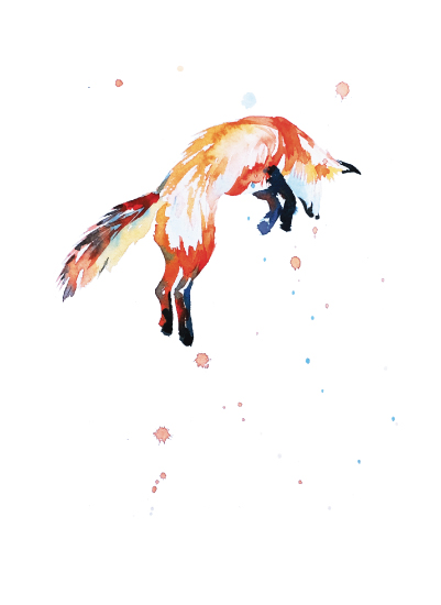art prints - Fox Jump by Isobel James