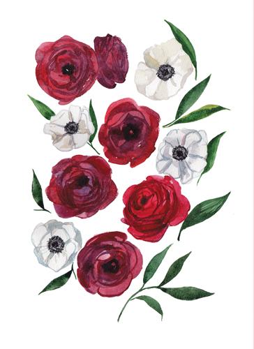 art prints - Flower composition by Nadiia Nemchenko