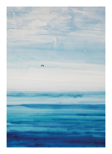 art prints - Sea bird by Nadiia Nemchenko