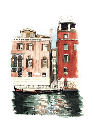 art prints - Gondolier in Waiting by Terri Crockett