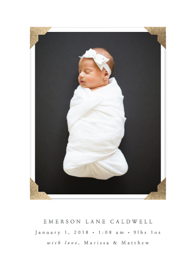 birth announcements - classic corners by Susan Asbill