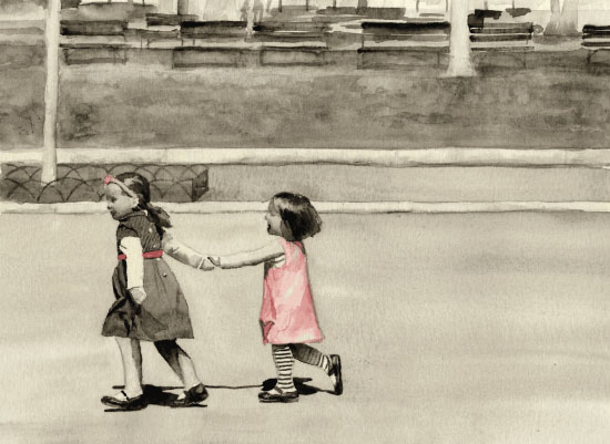 art prints - Girls In Pink by Terri Crockett