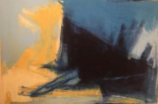 art prints - Indigo Triangle 1 by Sarah Kelly