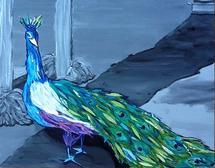 Preening Peacock by Susannah Raine-Haddad