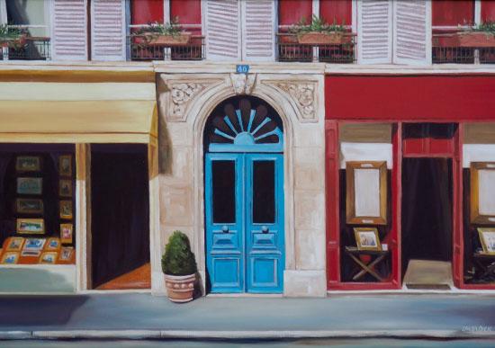 art prints - Parisian Door by Laura Dick