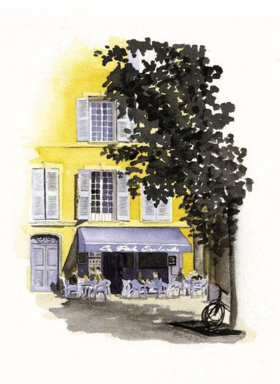 art prints - Petite French Cafe by Terri Crockett