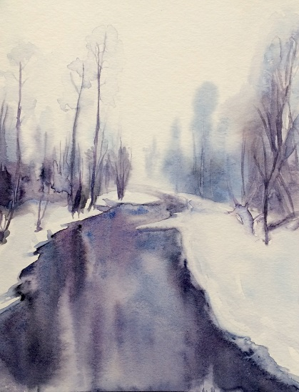 art prints - Snow River, Montana by Sarah J Wright