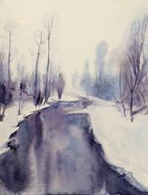 Snow River, Montana by Sarah J Wright