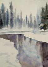 Winter river by Sarah J Wright