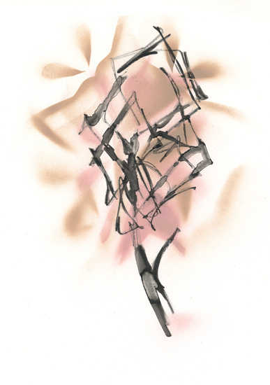 art prints - Nude and Blush Modern Bouquet by Angela Simeone