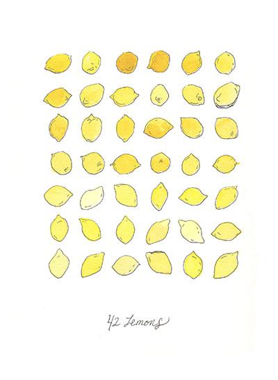 art prints - Forty-Two Lemons by Alexandra Betzler