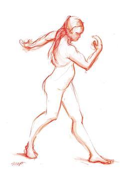 Orange Walking Figure