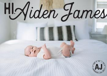 Welcome Stamp Birth Announcement