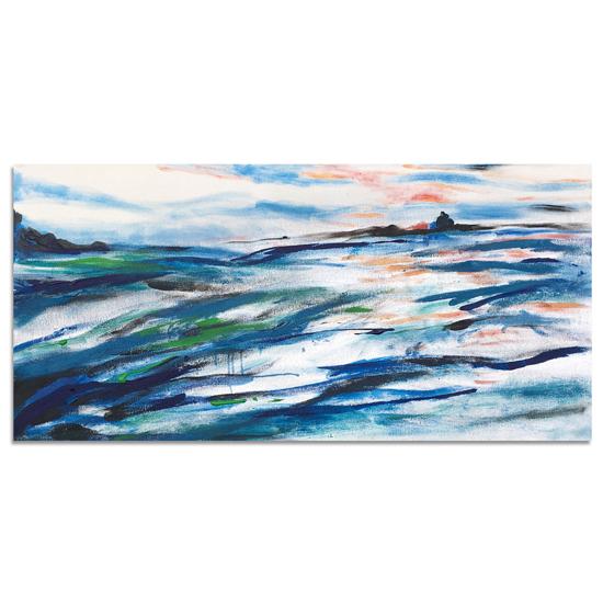 art prints - Steel Blue Coastal by KANDI COTA