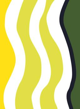 Wavy Lines in Yellows and Navy