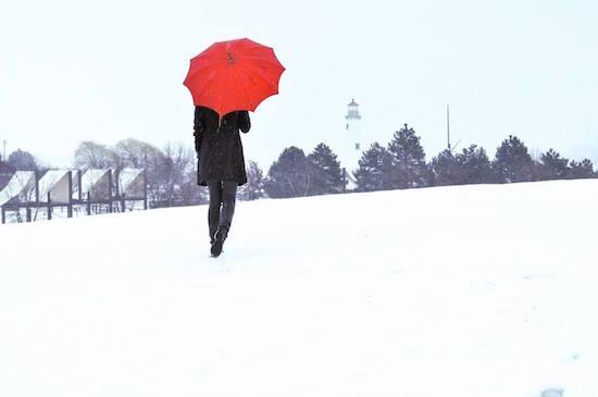 art prints - Red Umbrella by Amelia Kanan