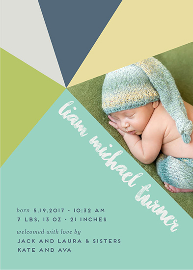 birth announcements - Geometric Triangles by Allison Kizer