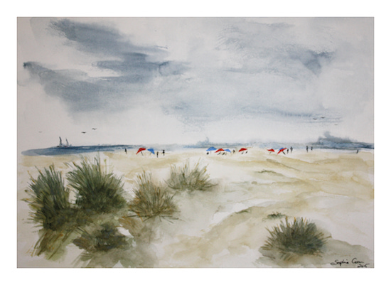art prints - Lounging In Coronado by Sophie Coon