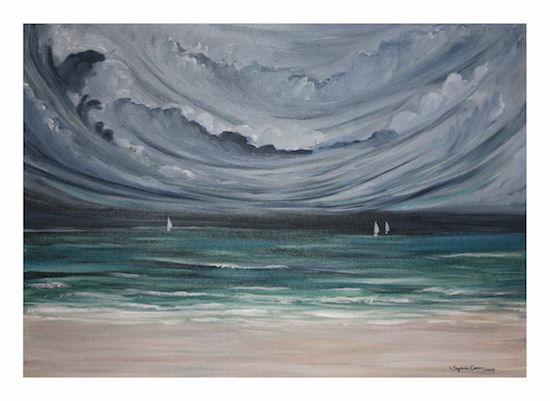 art prints - Sailing into the storm by Sophie Coon
