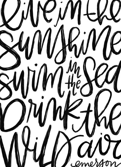 art prints - Sunshine Sea Wild Air by Manayunk Calligraphy