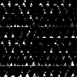 Textured triangles on black