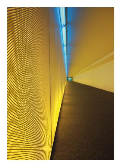 art prints - Blue Lights Lead to Teal Room by Nicole Winn