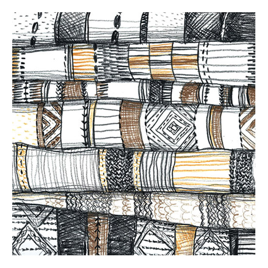 art prints - Stack of Rugs by Kelly Christina