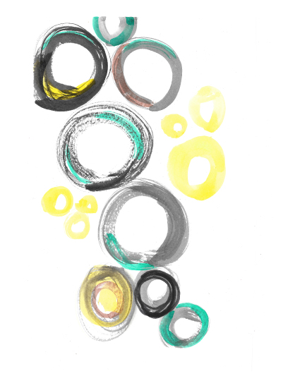 art prints - circles by Anupama