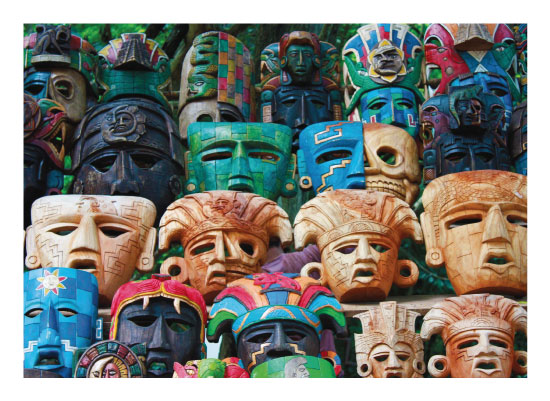 art prints - The Many Faces of Mayans by Nicole Winn