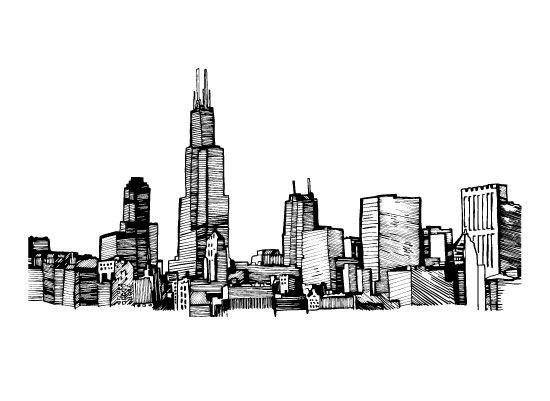 art prints - ChicagoLines by Courtney Hoover