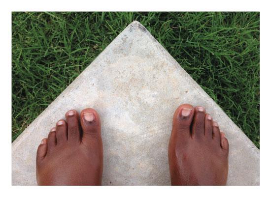 art prints - Concrete, Grass and Swollen Feet by Nicole Winn