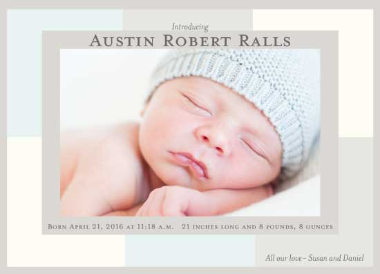 birth announcements - Boxy Baby by Susan Ralls