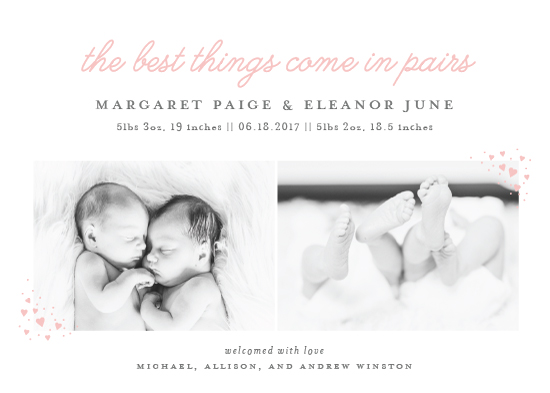 birth announcements - Pairs by Sarah Brown