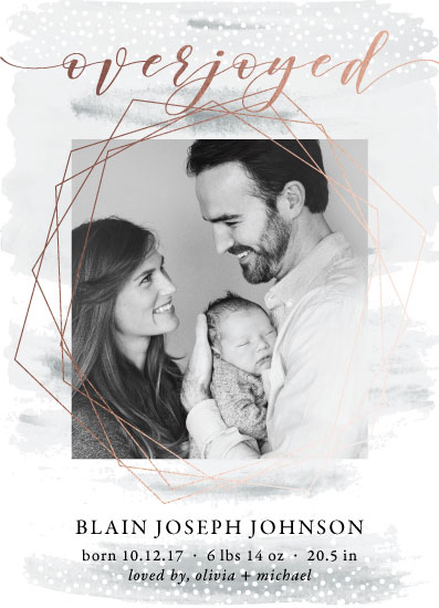 birth announcements - We're Overjoyed by Mabe Design Co.