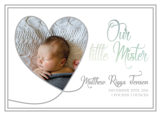 birth announcements - Our Little Mister by Jamie Kennedy