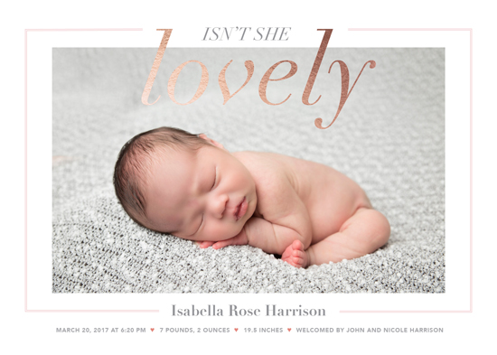 birth announcements - Isn't she lovely by Heather Caviston
