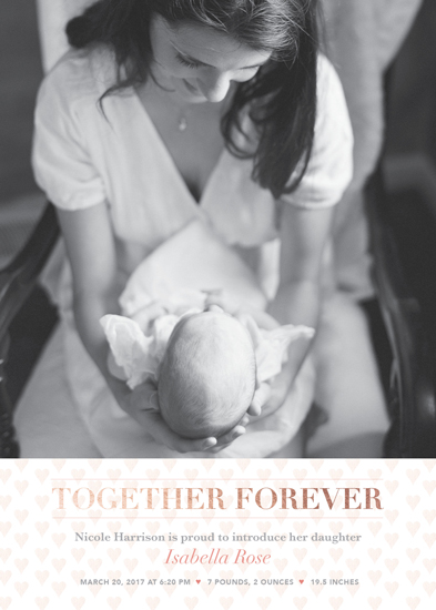 birth announcements - A mother's love by Heather Caviston