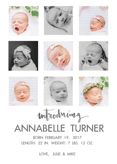 birth announcements - Multiple Images Birth Announcements by Mariko Iwata