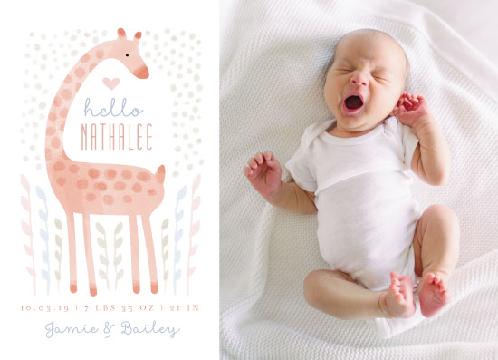 birth announcements - Little Giraffe by iamtanya
