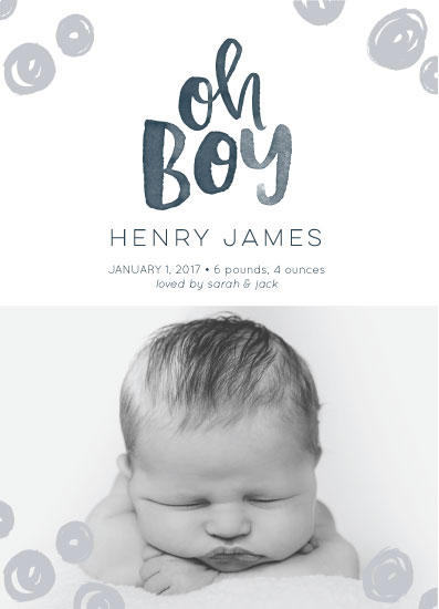 birth announcements - Boyish Charm by Design Squeeze